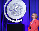 Heather Hitchens on stage during the 2017 Tony Awards Nominations Announcement at The New York Public Library for the Performing Arts on May 2, 2017 in New York City