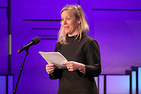 18 April 2017 - Charlotte Moore, BBC Director of Content speaks on stage at the screening of the BBC documentary 'Mind over Marathon' attended by Prince William, Duke of Cambridge at BBC Radio Theatre in London.  The screening also launches the BBC season on mental health. Photo Credit: ALPR/AdMedia