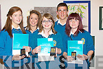 SMILES: Smiles by Transition Students from Mercy Secondry School, Mounthawk, Tralee on Friday night in Siamsa Tire Tralee as they were presented with the end of year trophy's. L-r: Mairead Leen, Sarah O'Connell, Sinead Farrelly, David Griffin and maeve Diggins..................................... ....