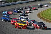 #22: Joey Logano, Team Penske, Ford Mustang Shell Pennzoil and #20: Erik Jones, Joe Gibbs Racing, Toyota Camry Craftsman / Sport Clips restart