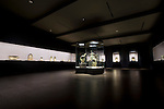 Photo shows the 2nd floor main gallery at the Nezu Museum of Art in, Tokyo, Japan on 17 Sept. 2012. Photographer: Robert Gilhooly