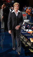 CHARLOTTESVILLE, VA- NOVEMBER 20: Head coach Pat Summitt of the Tennessee Lady Volunteers during the game on November 20, 2011 against the Tennessee Lady Volunteers at the John Paul Jones Arena in Charlottesville, Virginia. Virginia defeated Tennessee in overtime 69-64. (Photo by Andrew Shurtleff/Getty Images) *** Local Caption *** Pat Summitt