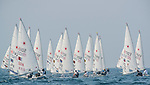 Sailors in action during the ISAF Sailing World Championships 2014 at the Real Club Maritimo of Santander on September 12, 2014 in Santander, Spain. Photo by Nacho Cubero / Power Sport Images