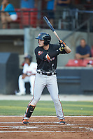 Preston Palmeiro (7) of the Frederick Keys at bat during the 2018 Carolina League All-Star Classic at Five County Stadium on June 19, 2018 in Zebulon, North Carolina. The South All-Stars defeated the North All-Stars 7-6.  (Brian Westerholt/Four Seam Images)