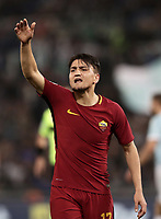 Calcio, Serie A: S.S. Lazio - A.S. Roma, stadio Olimpico, Roma, 15 aprile 2018. <br /> Roma's Cengiz Under in action during the Italian Serie A football match between S.S. Lazio and A.S. Roma at Rome's Olympic stadium, Rome on April 15, 2018.<br /> UPDATE IMAGES PRESS/Isabella Bonotto