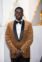 Daniel Kaluuya, Oscar&reg; nominee for actor in a leading role, arrives on the red carpet of The 90th Oscars&reg; at the Dolby&reg; Theatre in Hollywood, CA on Sunday, March 4, 2018.<br /> *Editorial Use Only*<br /> CAP/PLF/AMPAS<br /> Supplied by Capital Pictures