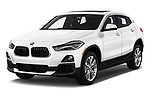 2018 BMW X2 Standard 5 Door SUV angular front stock photos of front three quarter view
