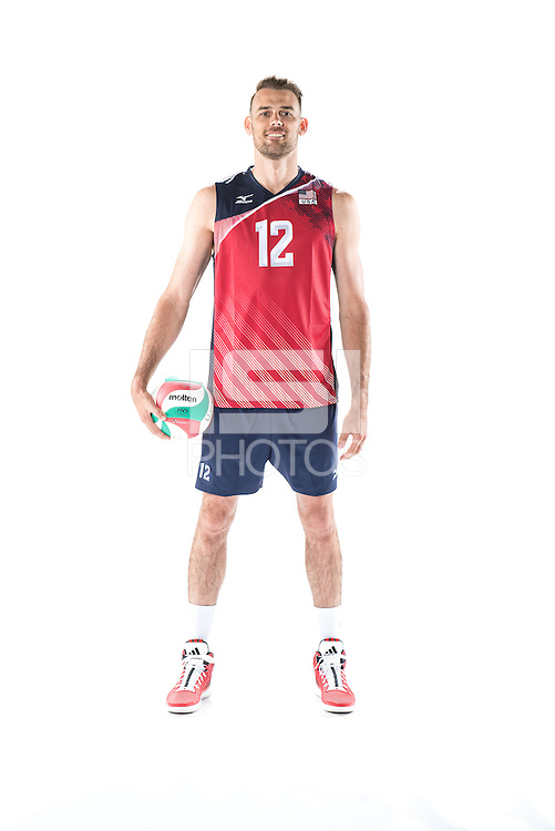 ANAHEIM, CA - May 24, 2016: The 2016 US Men's National Volleyball team.