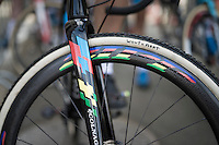 rainbow bike &amp; wheels for World Champion Wout Van Aert (BEL/Crelan-Vastgoedservice) <br /> <br /> Brico-cross Geraardsbergen 2016