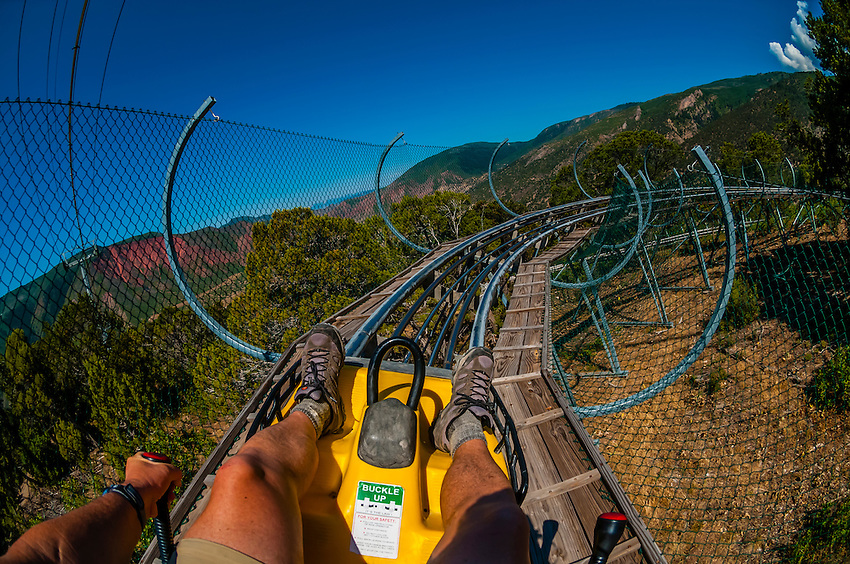 Canyon Flyer An Alpine Rollercoaster Glenwood Cavern Adventure