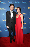 LOS ANGELES, CA - FEBRUARY 2: Jason Bateman and Amanda Anka at the 71st Annual DGA Awards at the Hollywood &amp; Highland Center's Ray Dolby Ballroom  in Los Angeles, California on February 2, 2019. <br /> CAP/MPIFS<br /> &copy;MPIFS/Capital Pictures
