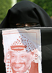 Palestinian women supporter of secular Fatah movement loyal to Palestinian president Mahmud Abbas, protest against the current political and economical situation in Gaza City. Gaza has been ruled since mid-June by the Islamist Hamas movement after its fighters overran security forces loyal to moderate president Mahmud Abbas