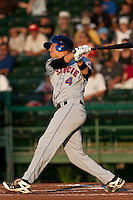 Wilmer Flores #4 of the St. Lucie Mets during a game against the Daytona Cubs at Jackie Robinson Ballpark on May 25, 2011 in Daytona Beach, Florida. (Scott Jontes / Four Seam Images)