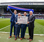 28.04.2019 Rangers v Aberdeen: RSEA present a cheque for £116k