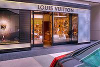 Louis Vuitton, avant-garde of fashion, Store, Santa Monica Place, shopping mall, open-air design, Santa Monica; CA