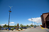 17 Micro Wind Turbines in parking lot of Sam's Club and Walmart, Palmdale, Los Angeles County, California, USA