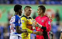 Goalkeeper Sam Johnstone (on loan for Manchester United) of Aston Villa shakes with opposite number Goalkeeper Vito Mannone of Reading at full time during the Sky Bet Championship match between Reading and Aston Villa at the Madejski Stadium, Reading, England on 15 August 2017. Photo by Andy Rowland / PRiME Media Images.<br /> **EDITORIAL USE ONLY FA Premier League and Football League are subject to DataCo Licence.