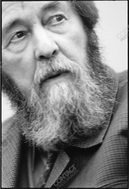 Aleksander Solzhenitsyn, Paris, France, September 1993