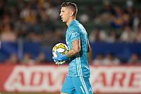 CARSON, CA - SEPTEMBER 15: David Bingham #1 of the Los Angeles Galaxy during a game between Sporting Kansas City and Los Angeles Galaxy at Dignity Health Sports Complex on September 15, 2019 in Carson, California.