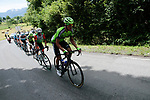 Euskadi-Murias riders lead the first chase group during Stage 3 of the Route d'Occitanie 2019, running 173km from Arreau to Luchon-Hospice de France, France. 22nd June 2019<br /> Picture: Colin Flockton | Cyclefile<br /> All photos usage must carry mandatory copyright credit (© Cyclefile | Colin Flockton)
