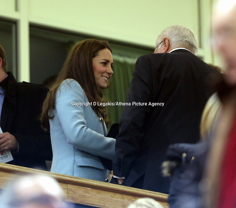 Pictured: Kate Middleton (L) on the stand. Saturday 08 November 2014<br /> Re: Dove Men Series rugby, Wales v Australia at the Millennium Stadium, Cardiff, south Wales, UK.