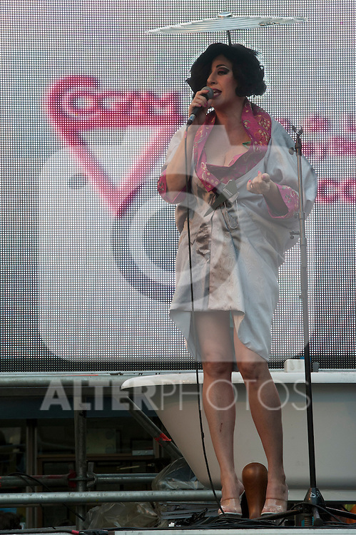 Inauguration of the gay pride festivities held MADO2012 in the Madrid district of Chueca.The singer La Terremoto de Alcorcon read the inauguration speech at the assembled audience..(Alterphotos/Ricky)