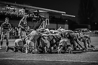 A scrum during the Greene King IPA Championship match between Ealing Trailfinders and London Welsh RFC at Castle Bar , West Ealing , England  on 26 November 2016. Photo by David Horn / PRiME Media Images