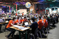 Nederland  Utrecht 2016 05 26. Campus Party Europe in de Jaarbeurs. Technologie Beurs.  <br /> Nederland Utrecht 2016 05 26. Campus Party is the greatest technological experience of the world which brings together young geeks & aspiring entrepreneurs in a festival of innovation, creativity, science, digital entertainment & entrepreneurship. Foto Berlinda van Dam / Hollandse Hoogte