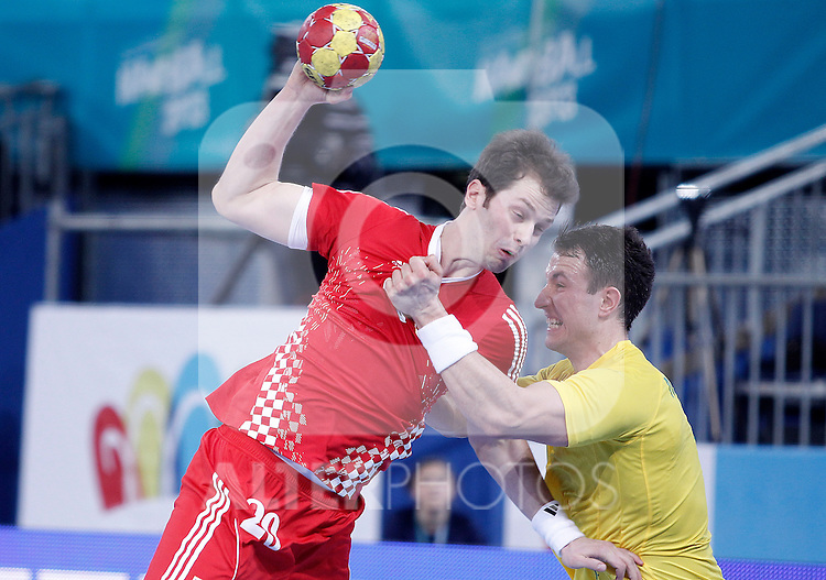 Croatia's Damir Bicanic during 23rd Men's Handball World Championship preliminary round match.January 12 ,2013. (ALTERPHOTOS/Acero)