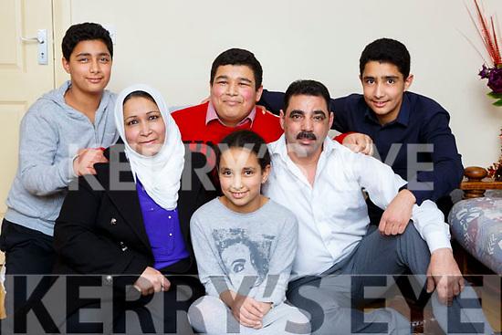 The Alsaleh family l-r: Mahmood, Salwa, Mohamad, Rawan, Omran and Ahmed who are living in Killarney