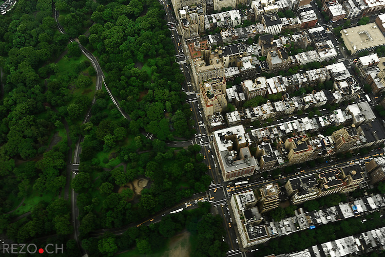 Vue aerienne sur Manhattan. Central Park. New York City, Juin 2009 © Fred Merz / Rezo.ch