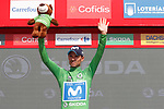 Alejandro Valverde (ESP) Movistar Team retains the Green Jersey at the end of Stage 8 of the La Vuelta 2018, running 195.1km from Linares to Almaden, Spain. 1st September 2018.<br /> Picture: Unipublic/Photogomezsport | Cyclefile<br /> <br /> <br /> All photos usage must carry mandatory copyright credit (&copy; Cyclefile | Unipublic/Photogomezsport)
