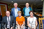 Pictured Front l-r Ned Hickey, Liz Galvin, Noreen Brosnan Back l-r PJ Brosnan and Johnny Brophy enjoying the Finuge GAA Night At Dogs at the Kingdom Greyhound Stadium on Saturday