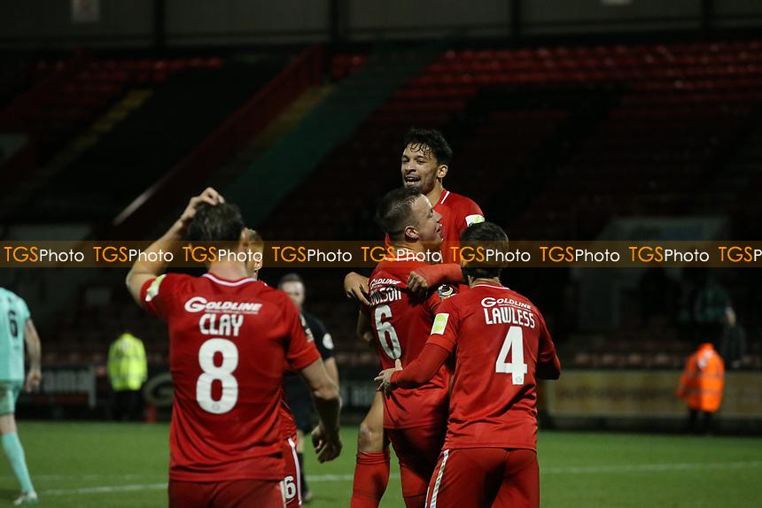 O's Macauley Bonne scores O's 2nd goal and celebrates during Leyton Orient vs Gateshead, Vanarama National League Football at The Breyer Group Stadium on 1st December 2018