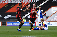 Jack Stacey of Bournemouth right scores and celebrates with Steve Cook of Bournemouth during AFC Bournemouth vs Blackburn Rovers, Sky Bet EFL Championship Football at the Vitality Stadium on 12th September 2020