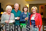 Caitriona O'Sullivan, Frank O'Connor, Sophie Price and Kay Fitzgerald, pictured at the Food Fair in aid of Spa/Fenit Hospice held in Ballyroe Heights Hotel on Friday evening.