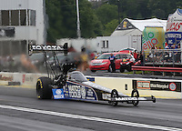 May 11, 2013; Commerce, GA, USA: NHRA top fuel dragster driver Antron Brown during the Southern Nationals at Atlanta Dragway. Mandatory Credit: Mark J. Rebilas-