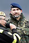 "Prince Felipe of Spain during exercise ""GAMMA PALAZUELOS 2013"" of the MIlitary Unit of Emergency (UME).March 11 ,2013. (ALTERPHOTOS/Acero)"