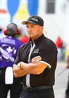 Mar 20, 2016; Gainesville, FL, USA; NHRA top fuel team owner Bob Vandergriff Jr during the Gatornationals at Auto Plus Raceway at Gainesville. Mandatory Credit: Mark J. Rebilas-USA TODAY Sports