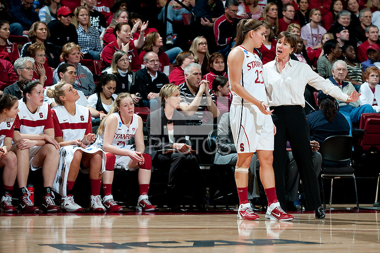STANFORD, CA - MARCH 19, 2011: Coach Tara VanDerveer at Maples Pavilion, March 19, 2010 in Stanford, California.
