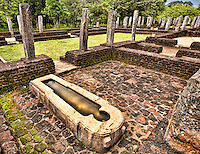 Mysterious stone bath in the grounds of the ancient hospital, likely used to immerse patients in medicinal oils. (Photo by Matt Considine - Images of Asia Collection)