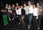 Cast Maembers making their Broadway debuts.attending the Actors' Equity Broadway Opening Night Gypsy Robe Ceremony for Aaron J. Albano in.'Newsies - The Musical' at the Nederlander Theatre in NewYork City on 3/29/2012