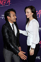 """LOS ANGELES - OCT 2:  David Huynh, Francesca Eastwood at the """"M.F.A."""" Premiere at the The London West Hollywood on October 2, 2017 in West Hollywood, CA"""