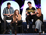 Matthew Hydzik, Micaela Diamond, Michael Campayno and Teal Wicks on stage during Broadwaycon at New York Hilton Midtown on January 11, 2019 in New York City.