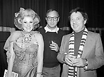 Cy Coleman with Neil Simon and Jessica James Attending a party after a performance of LITTLE ME at the Eugene O'Neill Theatre in New York City.<br />