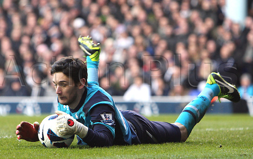 03.03.2013. London, England.Hugo Lloris of Tottenham Hotspur during the Premier League game between Tottenham Hotspur and Arsenal from White Hart Lane