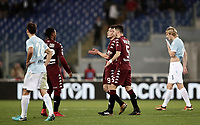Calcio, Serie A: Roma, stadio Olimpico, 11 dicembre 2017.<br /> Torino's players greets Lazio's players at the end of the Italian Serie A football match between Lazio and Torino at Rome's Olympic stadium, December 11, 2017.<br /> Torino defeats Lazio 3-1<br /> UPDATE IMAGES PRESS/Isabella Bonotto