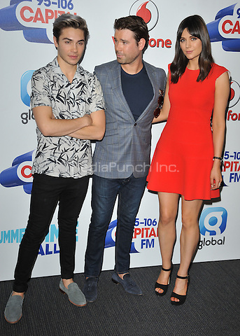 George Shelley, Dave Berry &amp; Lilah Parsons at the Capital FM Summertime Ball in aid of the Help a London Child charity, Wembley Stadium, Wembley, London, England, UK, on Saturday 11 June 2016.<br /> CAP/CAN<br /> &copy;CAN/Capital Pictures /MediaPunch ***NORTH AND SOUTH AMERIcAS ONLY***