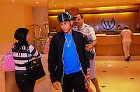 RIO DE JANEIRO, RJ, 17 DE JULHO DE 2013 -NEYMAR NO RIO DE JANEIRO-O atacante Neymar hospedou-se no hotel Windsor na noite desta quarta-feira, 17, na Barra da Tijuca, zona oeste do Rio de Janeiro.FOTO:MARCELO FONSECA/BRAZIL PHOTO PRESS