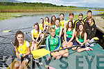 Muckross Rowing club are holding a summer camp and are holding a fundraiser to help the club buy a new boat launching the drive on Sunday were in boat front to back Aoife Farrell, Louise Cronin, Aoife Crowley and Ciara Carroll, front row l-r: Aoife Cooper, Carroll O'Connor, Holly Hickey, Aine O'Sullivan, back row: Emma Lenihan, Kate O'Connor, Mark Stack, Christopher Winne, Fred Bastible and Sean Fleming